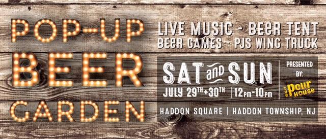 Pop-Up Beer Garden this Weekend!